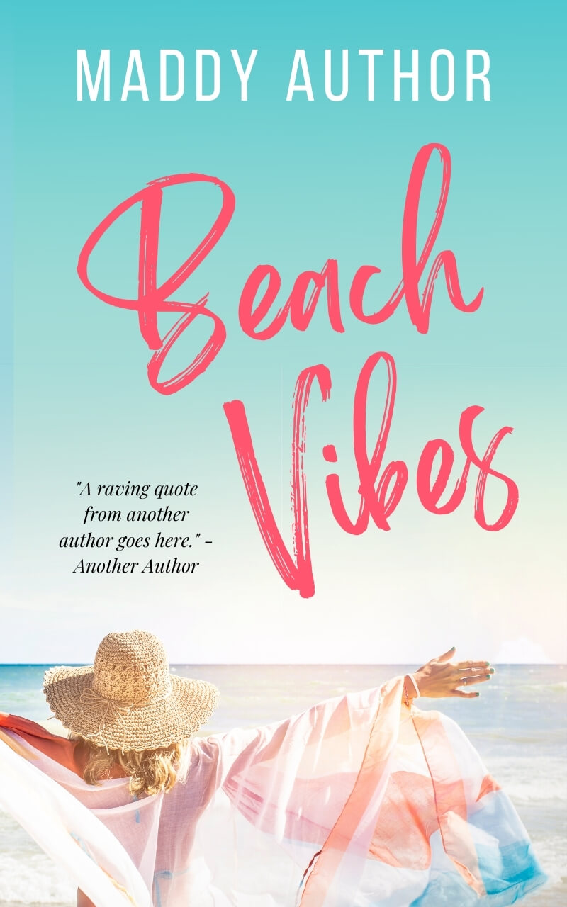 Summer at the Beach romcom book cover template